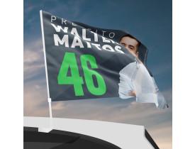 Bandeira de Carro para Campanha Política - Medida 0.30x0.40m